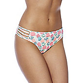 South Beach Pineapple Print Bikini Briefs - Multi
