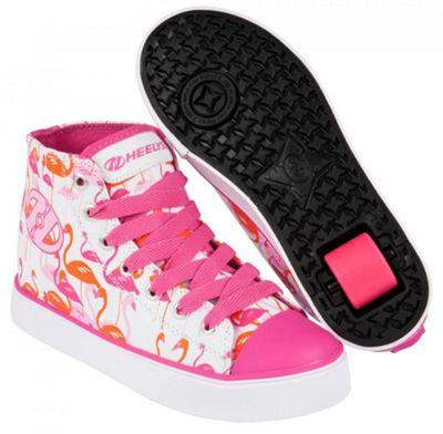 Heelys Veloz White/Pink/Flamingos Kids Heely Shoe UK 6