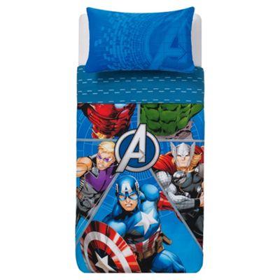 Marvel Avengers Hero Fragment Duvet Set Single