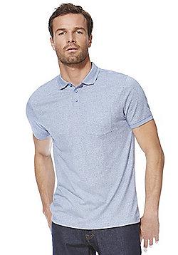 F&F Marl Polo Shirt - Light blue