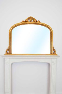 4Ft2 X 3Ft 126 X 91cm Large Ornate Gold Over Mantle Shabby Chic Big Wall Mirror