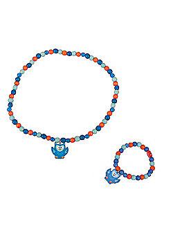 Tatiri Owl Bracelet and Necklace (Blue Owl)