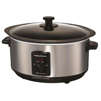 Morphy Richards Slow Cooker, 48701, 3.5L - Stainless Steel
