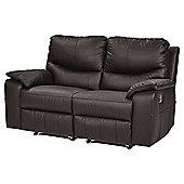 Chilton Medium 2.5 Seater Leather Recliner Sofa, Chocolate