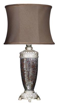 Sparkle Mosaic Antique Silver Bedside/Table Lamp - Bronze Color Finish