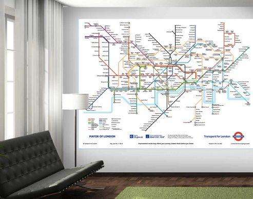 1Wall London Underground Wall Mural