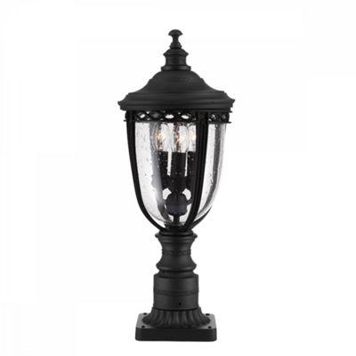 Black 3lt Medium Pedestal - 3 x 60W E14