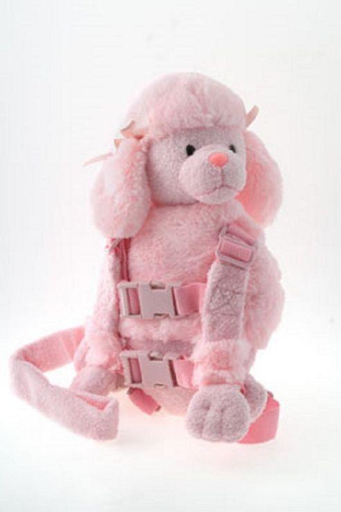 Goldbug Harness Buddy Reins - Pink Poodle