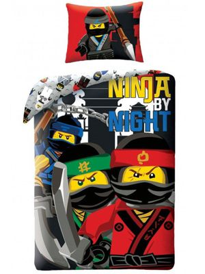 Lego Ninjago By Night Single Cotton Duvet Cover Set