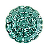 Teal Flower Wall Plate