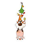 Barnabou Serie Golo Childs Kids Wall Sticker Pyramide D'Animaux Animal Pyramid STI041