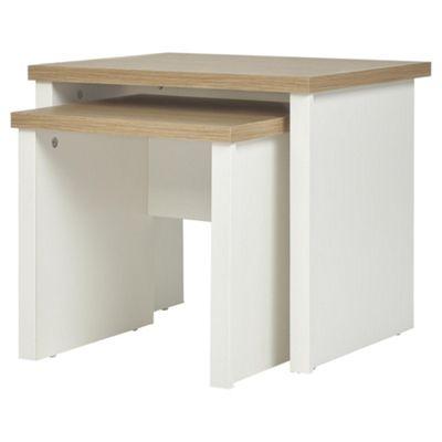 Buy somerton nest of tables ivory oak effect from our nest of somerton nest of tables ivory oak effect buy from tesco watchthetrailerfo