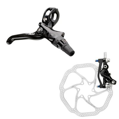 Avid X0 Trail Carbon Black Ano Rear 180mm HS1 Rotor (IS and Post Mount)