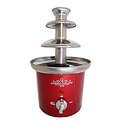 Gourmet Gadgetry Retro Diner Chocolate Fountain - Metallic Red