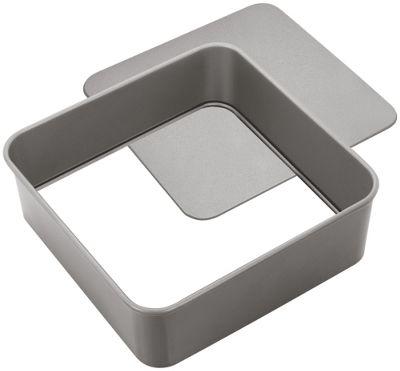 Judge Bakeware Heavy Duty Loose Base Non Stick Square Cake Tin 23cm
