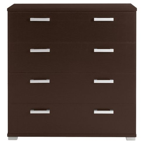 Fresno 4 Drawer Chest, Brown