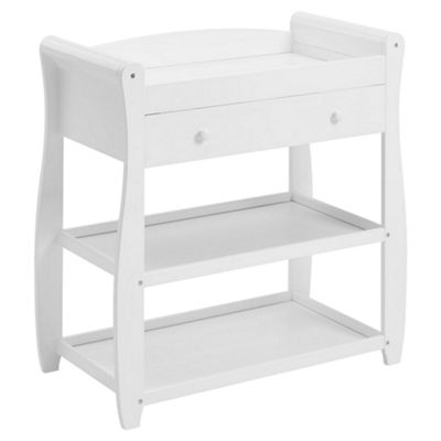 Babymore Sleigh Changer with Drawer (White)