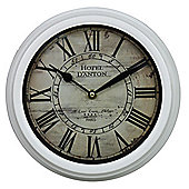 Rustic Wall Clock Hotel D'Anton Ivory Vintage Style