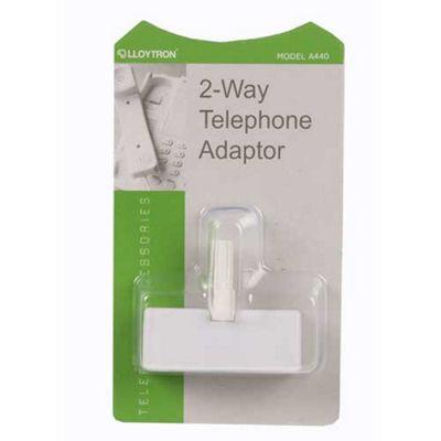 Lloytron 2 Way Telephone Adaptor White