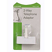 Lloytron 2 Way Telephone Adaptor White