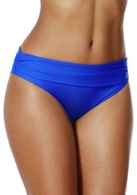 F&F Shaping Swimwear Fold-Over Bikini Briefs 14 Cobalt