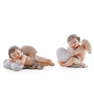 Set of Two Christmas Cherub Ornaments