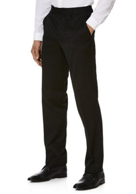 F&F Regular Fit Trousers 42 Waist 31 Leg Black