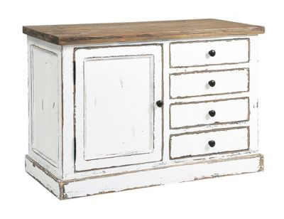 Rowico Aspen Sideboard - White Distress Painted