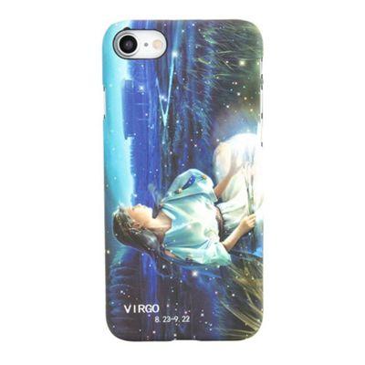 iPhone 8 Virgo Star Sign Glow In the Dark Slim Protective Phone Case - Multi