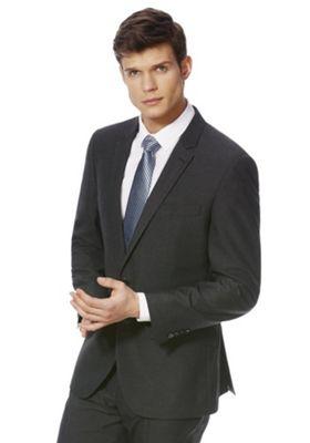 F&F Regular Fit Suit Jacket 50 Chest long length Charcoal