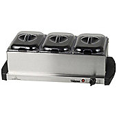 Buffet Warmer and Hotplate - 3 x 1.5lt capacity and Keep Warm Function