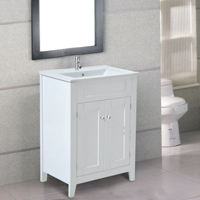 Buy Homcom Under Sink Bathroom Storage Cabinet Vanity Unit Wooden