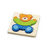 Viga Wooden Handy Block Puzzle - Bear