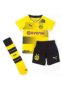 Puma Borussia Dortmund BVB 2017/18 Kids Junior Mini Home Football Kit Set Yellow - Yellow