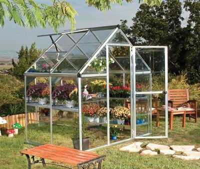 Palram Harmony 6x4 -Silver Greenhouse - Polycarbonate and Aluminium Frame
