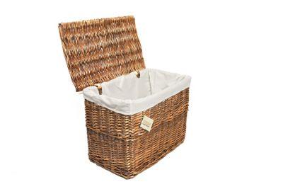 Woodluv Brown Wicker Storage Trunks Chest Basket, Medium
