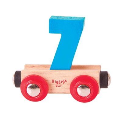 Bigjigs Rail Rail Name Number 7 (Blue)