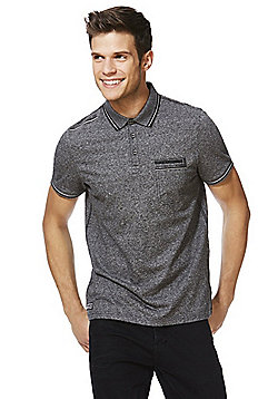 F&F Tech Polo Shirt - Grey & Black