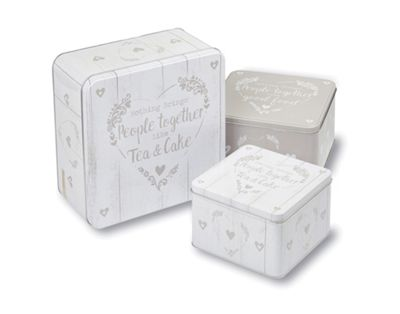 Cooksmart Food for Thought Set of 3 Square Cake Tins