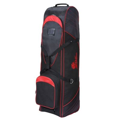 Palm Springs Golf Bag Tour Travel Cover V2 With Wheels Black/Red
