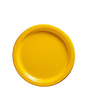 Yellow Dessert Plates - 17cm Paper Party Plates - 50 Pack