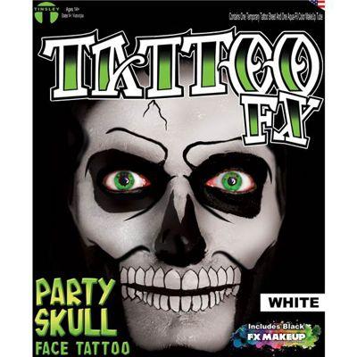 White Skull Face Tattoos