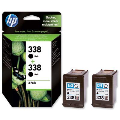 HP 338 2-pack Black Original Ink Cartridges
