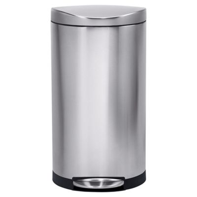 simplehuman 30 Litres Semi Round Pedal Bin in Brushed Stainless Steel