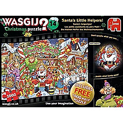 Wasgij Christmas 14 - Santas Little Helpers - 2 x 1000pc Puzzle