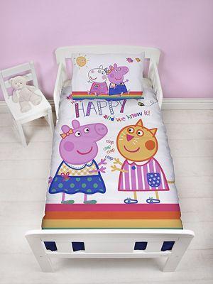 Peppa Pig Hooray 4 in 1 Junior Bedding Bundle Set