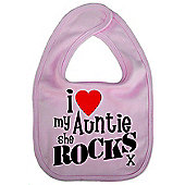 Dirty Fingers I love my Auntie she Rocks x Cute Bib Pink