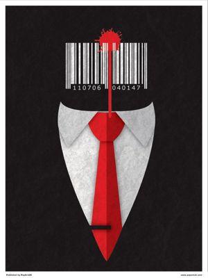 Minimal Movies: Silent Assassin Mini Poster