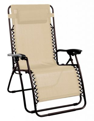 Starmo Beige Zero Gravity Reclining Garden Chair