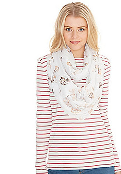 F&F Butterfly Foil Print Snood - Ivory
